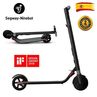 250W Monopatín Patinete Eléctrico Scooter Luz LED Ninebot Segway ES1 No. 9 Negro