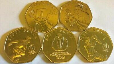 2019 The Official Isle Of Man ICC Cricket World Cup 50p Set Uncirculated