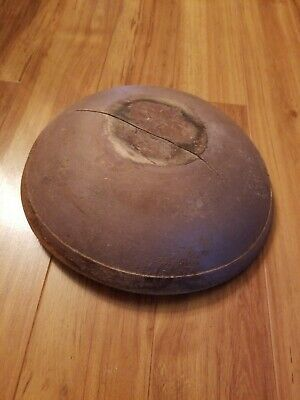 ANTIQUE EARLY 19TH C WOOD DOUGH 1800s TURNED WOODEN BOWL ORIGINAL RARE PAINT!!