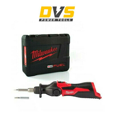 Milwaukee M12SI-0 M12SI-0X Cordless Soldering Iron 12V Body Only with Carry Case