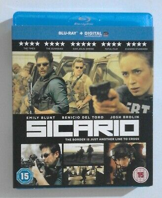SICARIO BLU RAY with SLIPCOVER Starring Emily Blunt