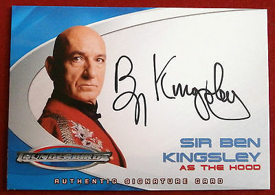 Thunderbirds The Movie - AC2 Sir Ben Kingsley, The Hood -  Autograph Card