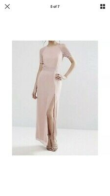 ASOS NUDE//DUSKY PINK MONO BLOCK SHIFT DRESS