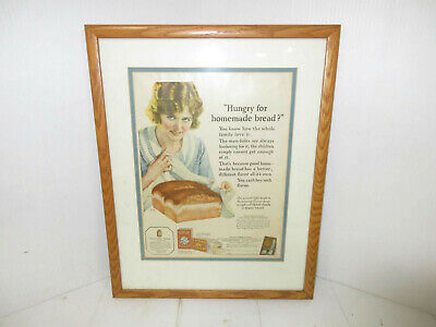 """1924 """"Hungry for Homemade Bread?"""" Northwestern Yeast Co. Framed Advertisement"""