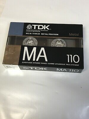 VINTAGE TDK MA 110 Metal CASSETTE TAPE Type IV SEALED NEW OLD STOCK
