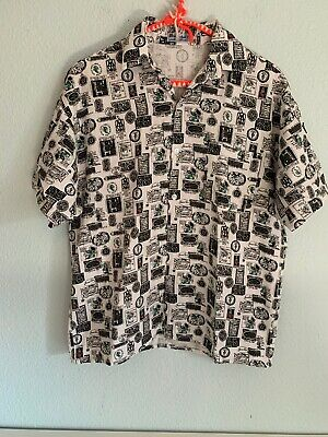 Vtg 70's 80's Mens Novelty Print Shirt, XS - Men's Small Boy's Large
