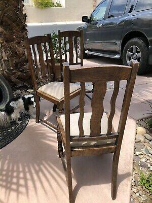 Roy Rogers And Dale Evans Sturdy Oak Chairs With Suede Seats And Unusual Design