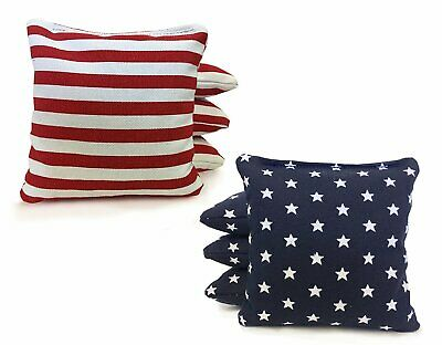 Stars and Stripes - 8 Regulation Corn Hole Bags! American Flag Bag! High Quality