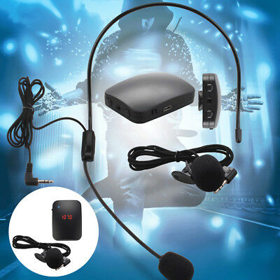 BL_ Wireless Microphone FM Radio Transmitter Headset Tour Guide Clip-On MIC Hot