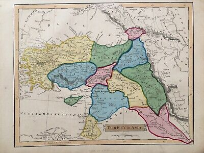 1838 Antique Scarce Map; Turkey in Europe after John Russell
