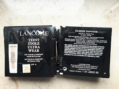 Makeup 30x1 ml Lancome Teint Idole Ultra Wear 24H 03 Beige Diaphane Probe/Sample