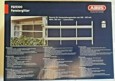 ABUS Mechanical Expandable Security Window Grille 700-650 x 300mm  Model FGI5300