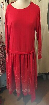 Vintage Fine Silk Red Flapper Dress Gatsby Art Deco 1920s 30s Style