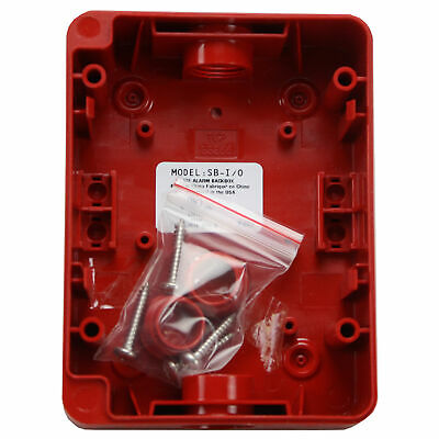 Fire Lite Alarms Sb-I/O Red Fire Alarm Indoor Outdoor Polycarbonate Surface Moun
