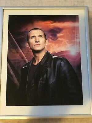 Christopher Eccleston Signed framed 10x8 Photo Doctor Who COA