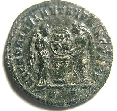 "Choice Constantine I ""The Great""/2 Victories Ticinum Mint 318-319 Ad Authentic"