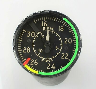 Tachometer Indicator RPM 6A/4339148 KTD1801W Westland Wessex Gauge Helicopter