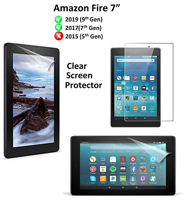 "Ultra Clear HD Screen Protector Guard Cover For Amazon New Fire 7""(9th Gen)2019"
