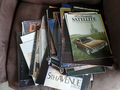 Lot of 60+ Vintage Car Brochures  1970s & 80s. Plymouth, Chrysler, Dodge.