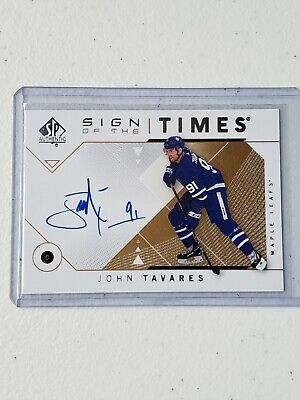 2018-19 SP Authentic John Tavares Sign of the Times Auto Group A 1:3884