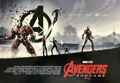 "AVENGERS ENDGAME AMC IMAX EXCLUSIVE POSTER 11"" x 15.5"" Week 1 Of 2"