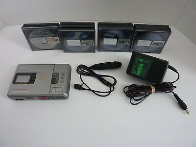 SONY MZ-R30 Minidisc MD Player and Recorder + AC Adapter & 11 Minidiscs (TESTED)
