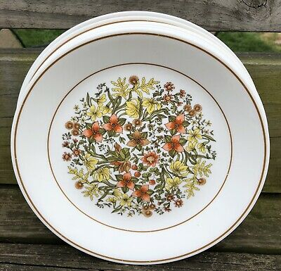 "Vintage Corelle by Corning Indian Summer Dinner Plates 10 1/4"" Set of 7"