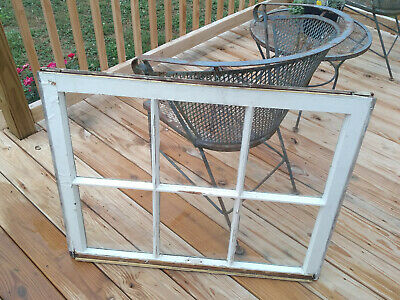 Vintage Farmhouse 6 Pane Wood Window Sash 34.5 x 27.5 Picture Frame Pinterest