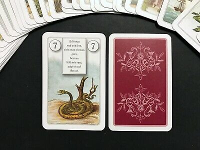 German Lenormand Fortune Telling Oracle Cards