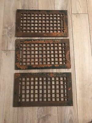 Three Vintage Metal Rusty Vent Grate