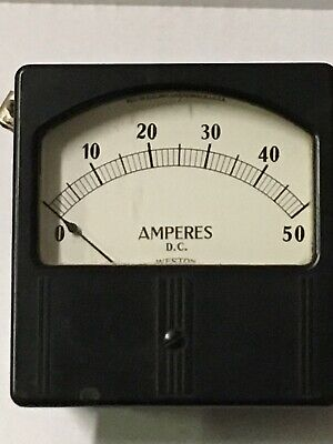 D.C Amperes Gauge Weston Model 741 No 39538