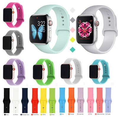for Apple Watch iWatch Series 5 4 3 2 Soft SILICONE Sport Strap Band