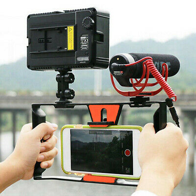 "Camera Cage Stabilizer Video Film Making Rig for iPhone Samsung 4~7"" Smart Phone"