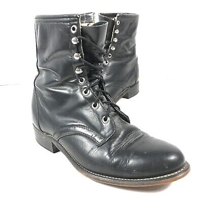 722ab1e73be35 LAREDO WOMENS BLACK Leather Kiltie Lace Up Western Riding Boots ...