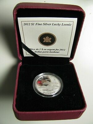 2012 Proof $1 25th Ann Lucky Loonie Olympic Games Canada .9999 silver