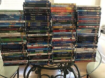 126 Disney Movie DVD And Blu Ray Lot Pixar