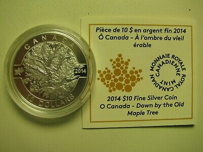 2014 Proof $10 O Canada #5-Down By The Old Maple Tree COIN&COA ONLY .9999 silver