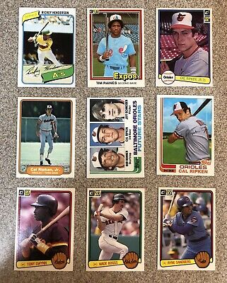 1980-2000 Baseball Hall of Famer & Stars Rookie Card Lot of (40)