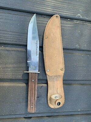 "VINTAGE SABRE 631 ORIGINAL BOWIE KNIFE JAPAN 10"" With Sheath 2"