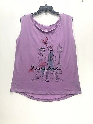 Disney Parks Girls XL Sleeveless High Low Shirt Top Disneyland Sparkle