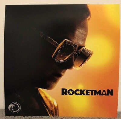 Rocketman Movie Poster Elton John Taron Egerton Theatre Promo Mint 12x12