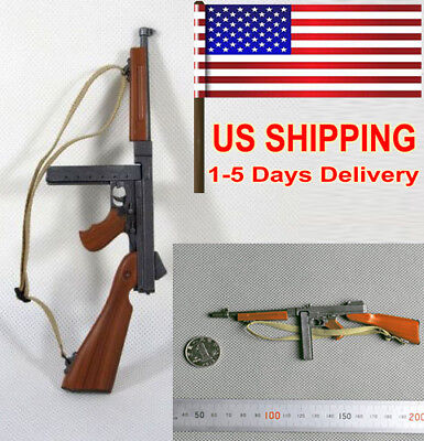 "1//6 Scale Thompson M1A1 Submachine Gun Model for 12/"" Action Figure Accessories"