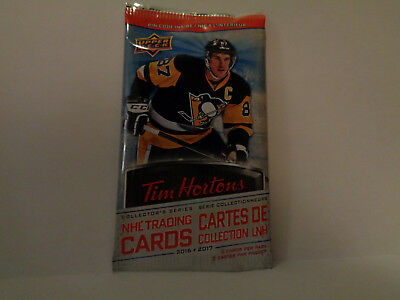 NHL 2016 to 2017 Upper Deck Tim Hortons Hockey Cards Unopened Pack(s)