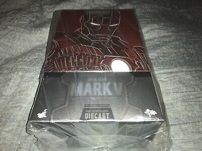 Iron Man Mark V Sixth Scale Figure by Hot Toys DIECAST BRAND NEW US seller