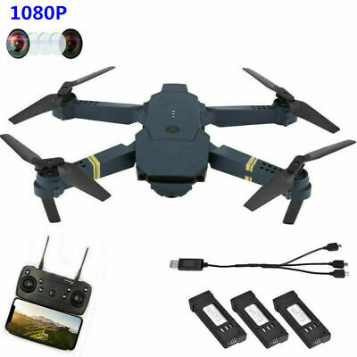 Drone X Pro Foldable Quadcopter WIFI FPV w/1080P HD Camera 3 Extra Batteries ❤lo