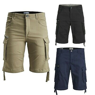 Jack & Jones Mens PLUS SIZE Chino Cargo Short Bermuda Summer Casual Half Pants
