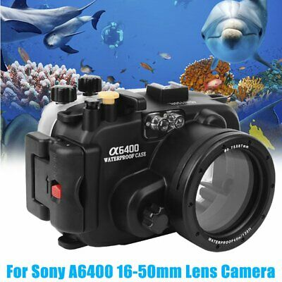 Waterproof Underwater Diving Housing Case Cover For Sony A6400 16-50mm Camera