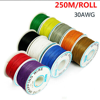 265m 30AWG PCB Circuit Board Jump Wire Welding Soldering Cable 0.25mm Wire Dia
