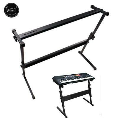 Glarry Heavy Duty Piano Keyboard Stand Z Style Frame Height Adjustable UK Metal