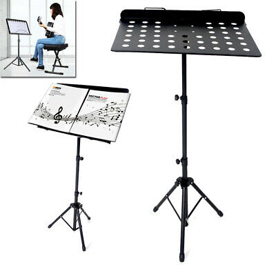 Glarry Music Stand Sheet Music Holder Lightweight Adjustable Foldable+Carry Bag